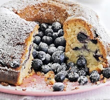 Blueberry & coconut cake. This dairy-free dessert is a guaranteed crowd-pleaser and is even freezer-friendly.