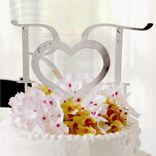 Crystal Letter Cake Toppers