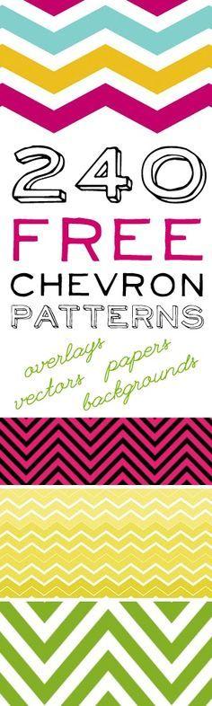 240 FREE Chevron Printables!!