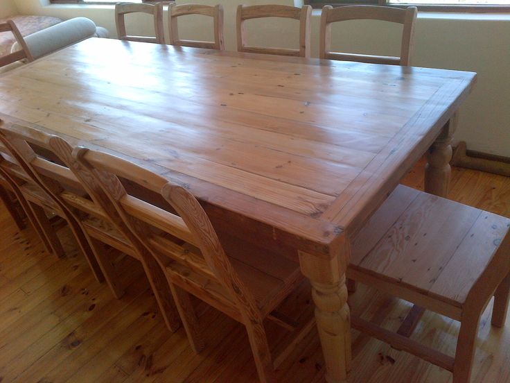Rustic Table Seats 10 Recycled And Reclaimed Wood With Natural Legs Chairs