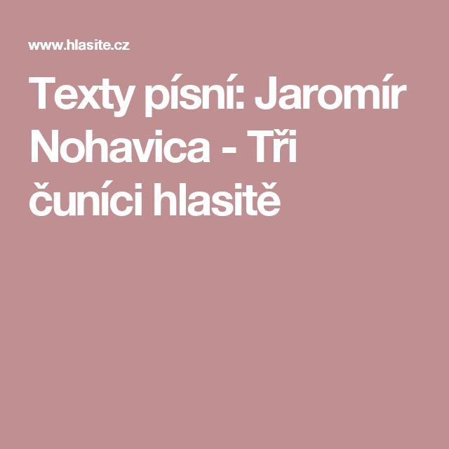 Texty písní: Jaromír Nohavica - Tři čuníci hlasitě