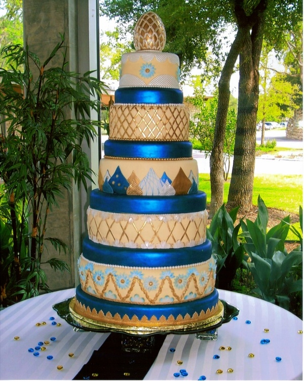 Russian Wedding Cake With Faberge Egg Replica On Top At Least