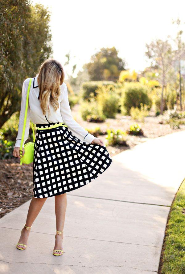 Windowpane Scuba Skirt – Mindy Mae's Market