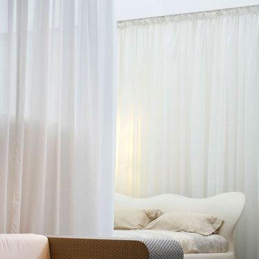 Sienna Pencil Pleat Sheer Curtains White