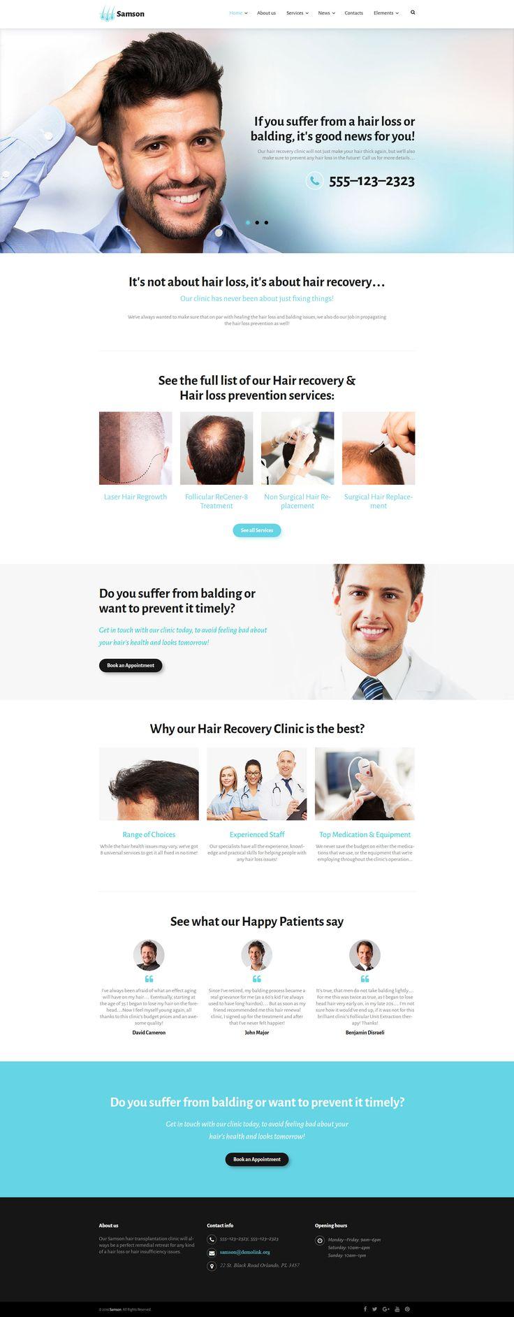 hair website templates
