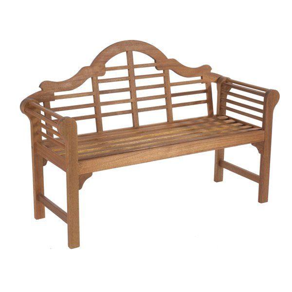 Romig Wooden Bench White Garden Bench Garden Furniture Outdoor Furniture