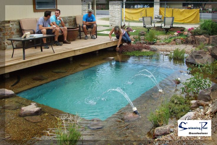 30 best images about readymade swimming pools on pinterest for Koi pond natural swimming pool