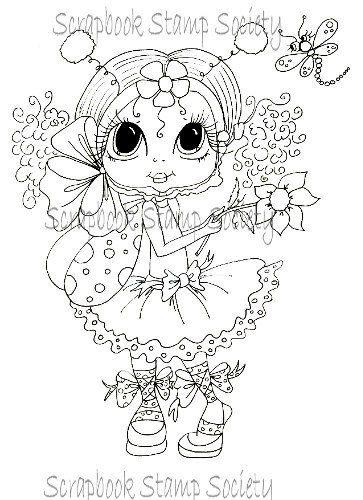 INSTANT DOWNLOAD Digital Digi Stamps Big Eye Big Head Dolls Digi  Pheebee Flutterbee By Sherri Baldy