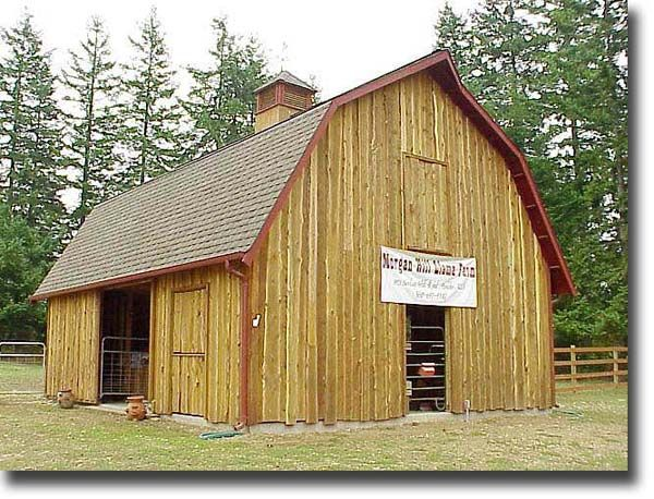 105 best gambrel barn with apartment images on pinterest for Gambrel roof pole barn plans