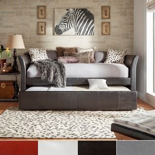INSPIRE Q Deco Faux Leather Daybed and Trundle   Overstock.com Shopping - The Best Deals on Beds