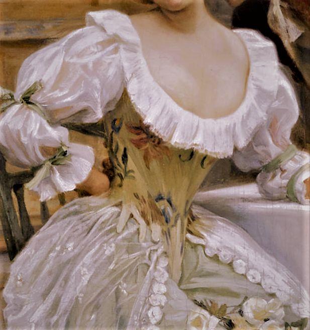 """""""A Garden Flirtation"""" by Jules Girardet"""