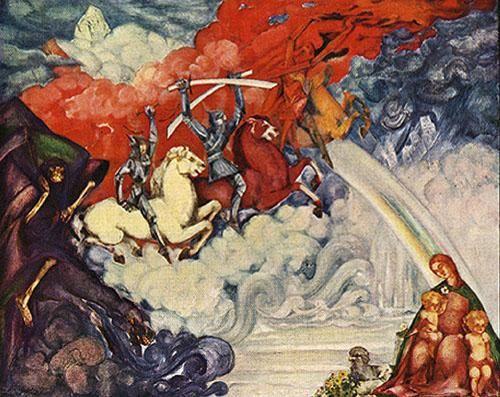 Борис Анисфельд. Четыре всадника Апокалипсиса, картина также называется: Сергей Рахманинов - Прелюдия до-диез минор.