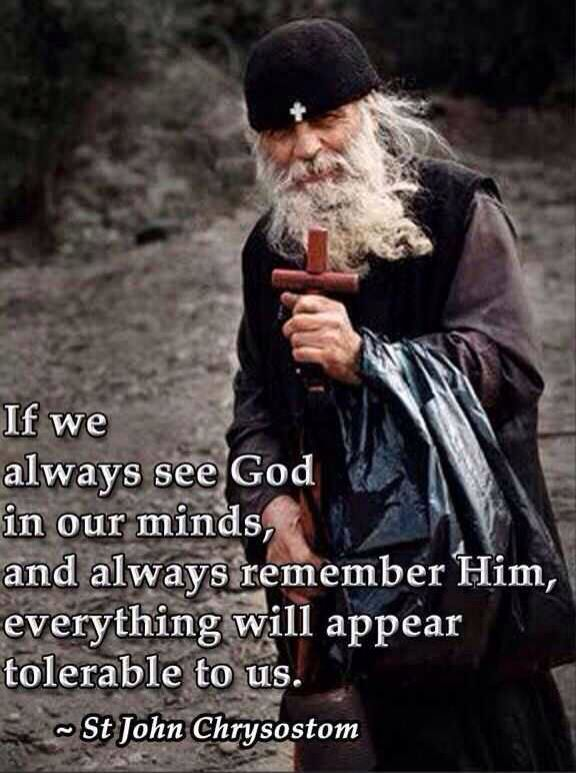 Always see God in our minds...
