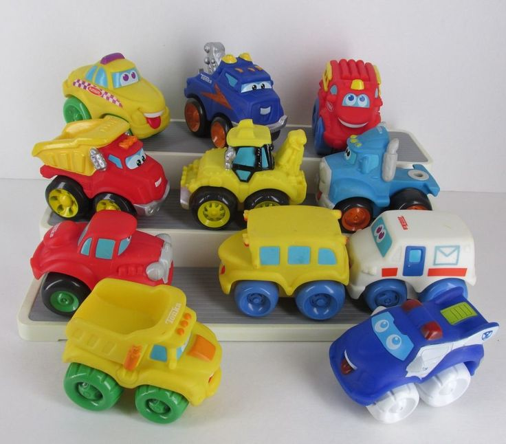 "Tonka Hasbro Chuck And Friends Big 4"" Soft Cars Trucks"