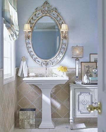 Timeless Master Bathroom-love the mirror,lights but x2