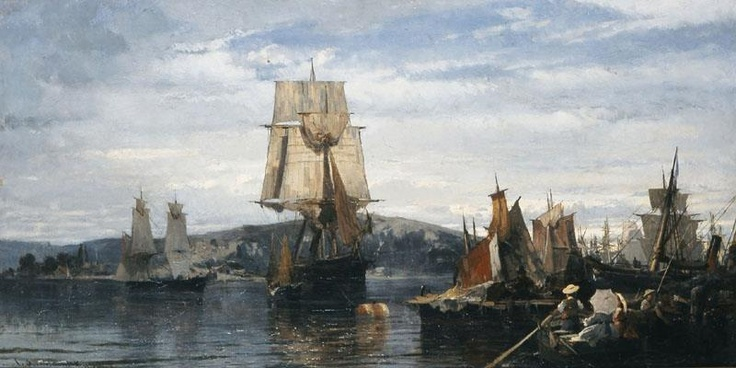 Outside the harbor - Konstantinos Volanakis, 1872