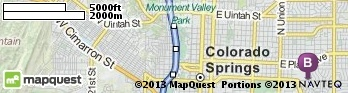 Driving Directions from 6 S 33rd St, Colorado Springs, Colorado 80904 to 10 Parkside Dr, Colorado Springs, Colorado 80910 | MapQuest
