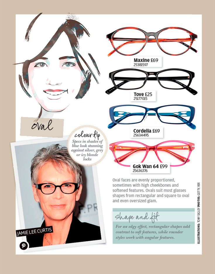 Eyeglass Frames For An Oval Face : Oval face shape Glasses Pinterest