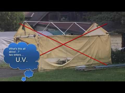 Portable Shelters - Make them last 10 years! - YouTube ...