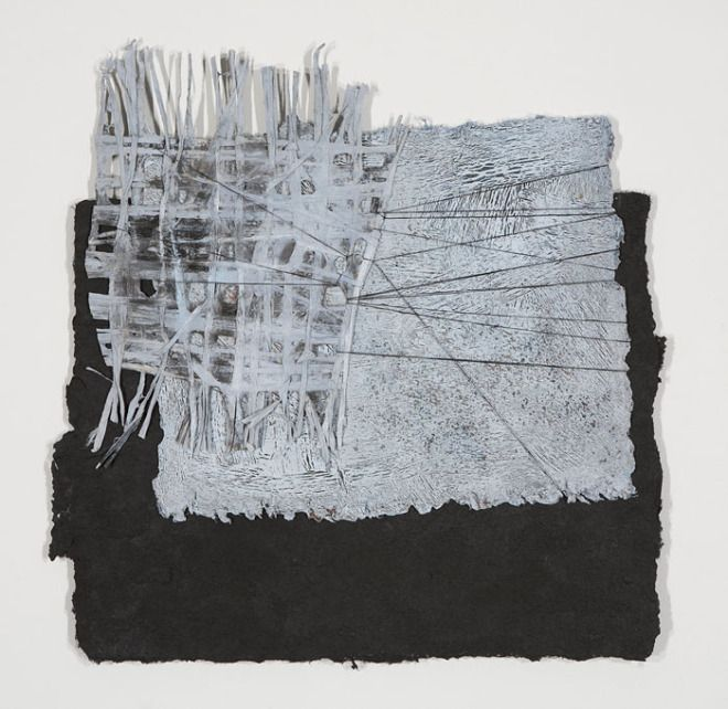 Jennifer Davies, environs, 20 in.h x 20in. pigment on handmade paper