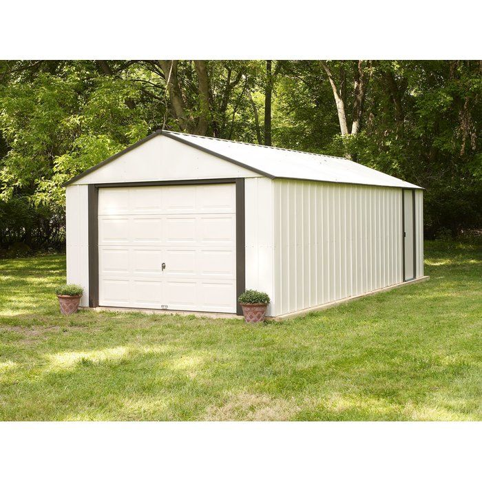 Murryhill 12 Ft W X 24 Ft D Metal Garage Shed Metal Storage Sheds Building A Shed Garage Door Styles