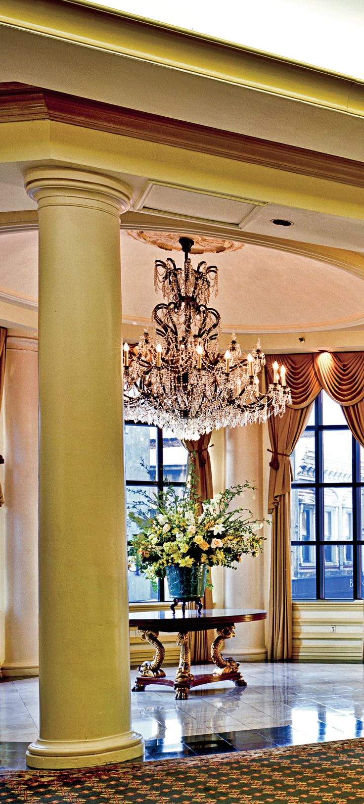 Traditional grand southern decor.