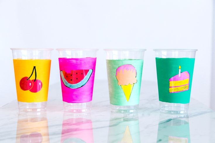 These cups for a party!!! http://asubtlerevelry.com/painted-picnic-plates/