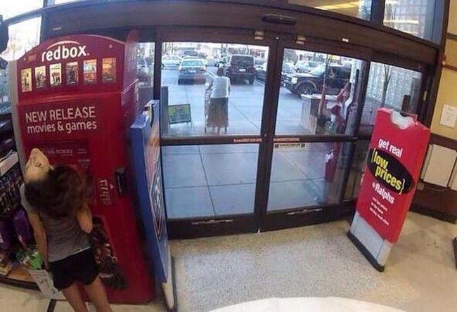 Captured on security cameras at Walmart.