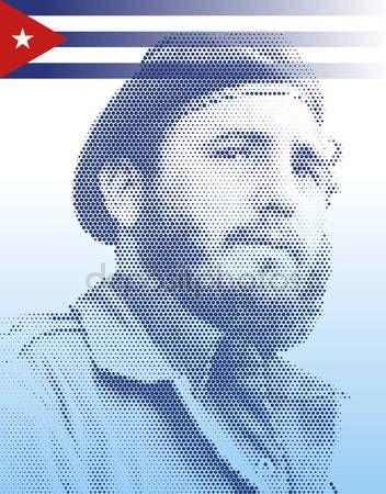 Ritratto di Cuba - novembre 2016 - morte di Fidel Castro — Vettoriali Stock © frizio #134485534
