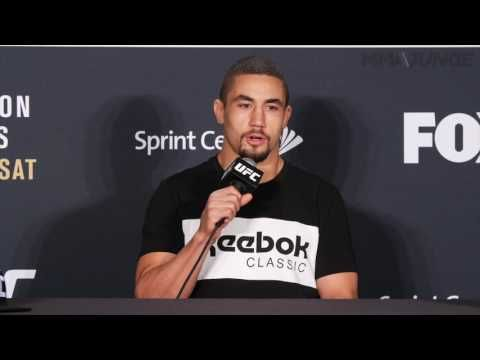 MMA UFC on FOX 24 post fight press conference with Robert Whittaker