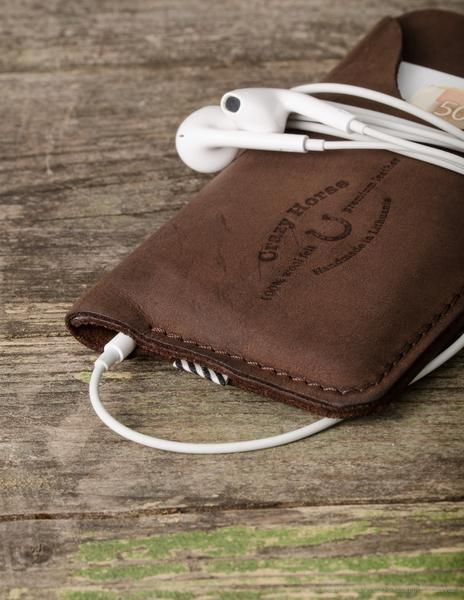 Handmade CrazyHorse brown leather iPhone case / wallet / cardholder. Designed for iPhone 6 / iPhone 6 plus / iPhone 5s / iPhone 5c / iPhone 5. Best gift for Men