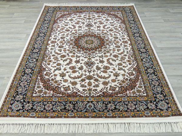 Persian Nain Design Art Silk Rug Size: 150 x 230cm