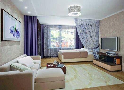 Гостиная и спальня в одной комнате – зонирование и дизайн интерьера, фото вариантов