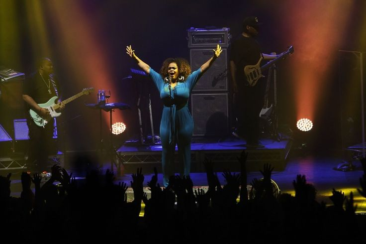Jilly from Philly is in the house. Jill Scott soars onstage during a performance on Nov. 19 in Melbourne, Australia: Photo