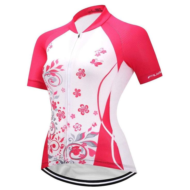 Women's Floral Pink Cycling Jersey-Online Cycling Gear