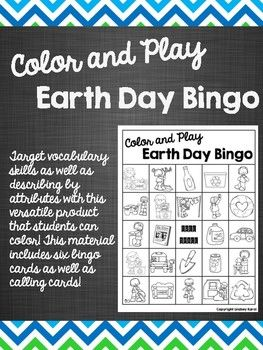 Target vocabulary skills as well as describing by attributes with this versatile product that students can color! This material includes six bingo cards as well as calling cards! To prepare: Print bingo cards and distribute to students. Print calling cards and cut apart the pieces.To use: Have students name each item before coloring it (to target vocabulary) OR have students describe each item before coloring it (to target attributes).