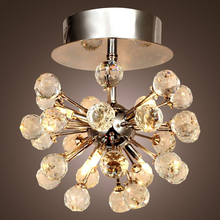 LightInTheBoxR Crystal Chandelier With 6 Lights In Globe Shape Mini Style Chandeliers Modern Ceiling Light Fixture For Hallway Bedroom Living Room