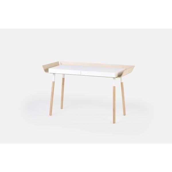 Schreibtisch My Writing Desk In Weiß Und Holz Für Home Office Oder Büro.  Moderner