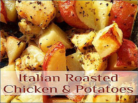 Italian Chicken Potatoes - Can prep it the night before, then just toss in the oven for 45 min, toss a salad, and... Dinner!