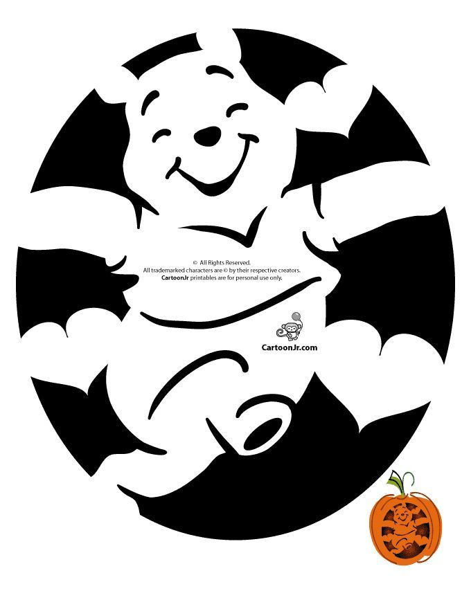 Nalle puh silhouette pinterest for Winnie the pooh pumpkin carving templates