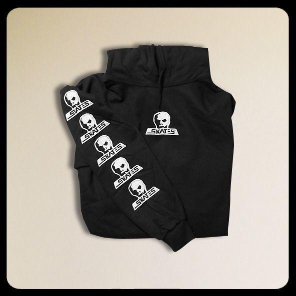 Skull Skates Logo Black Hoody  (LARGE)