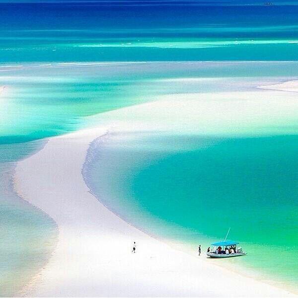 Whiteheaven Beach, Australia ~ Colette @}-,-;---