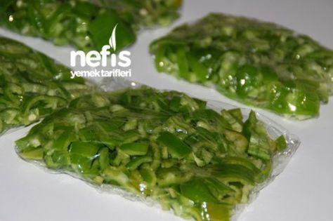 Derin Dondurucuda Yeşil Biber Tarifi