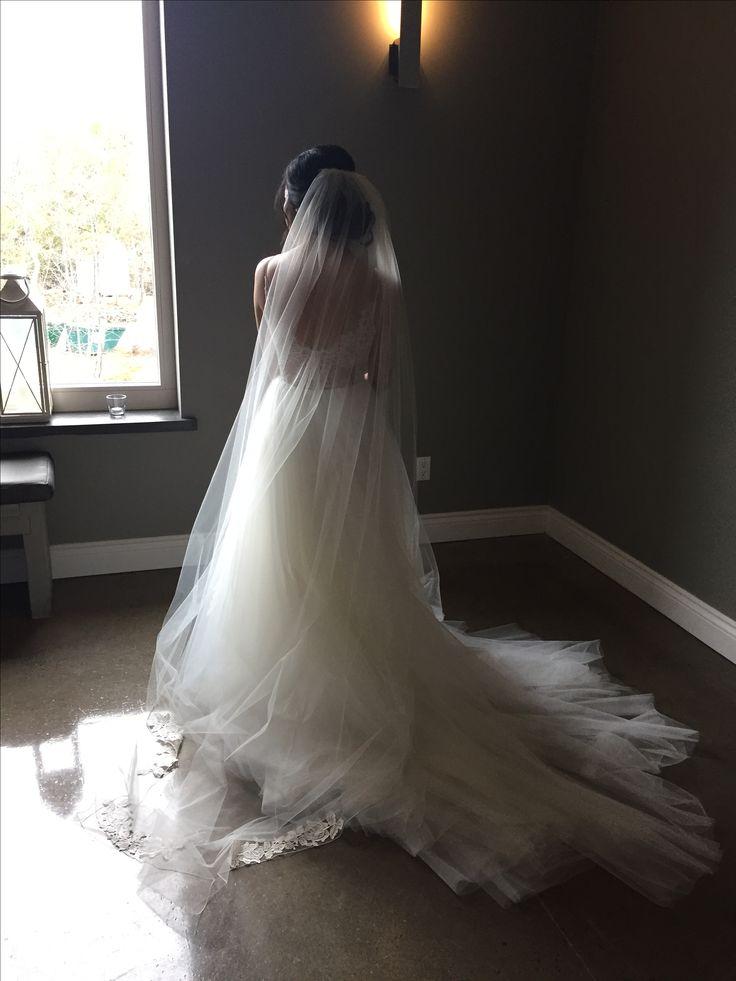 The backside of the bride   #bridalgown #weddingday #weddingveil #bridalstyle