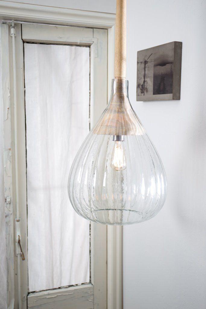Dutchbone Lampa Wisząca Drop Glass 5300073 : Lampy wiszące szklane : Sklep internetowy Elektromag Lighting #vintage #glass #lamp #lighting