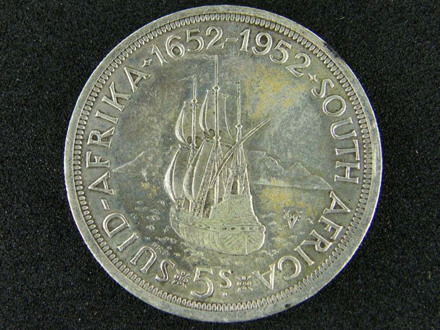 SOUTH AFRICA 1952 5 SHILLINGS SILVER OP 1005 silver coins , south africa silver coin , ,silver bullion coin