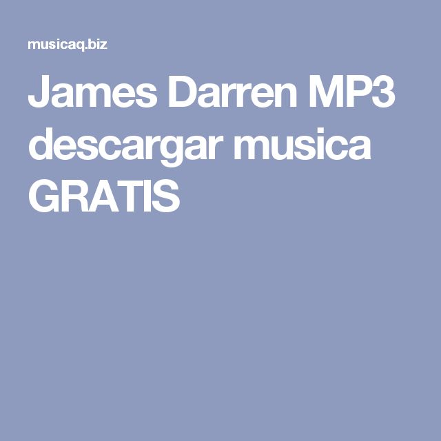 James Darren MP3 descargar musica GRATIS