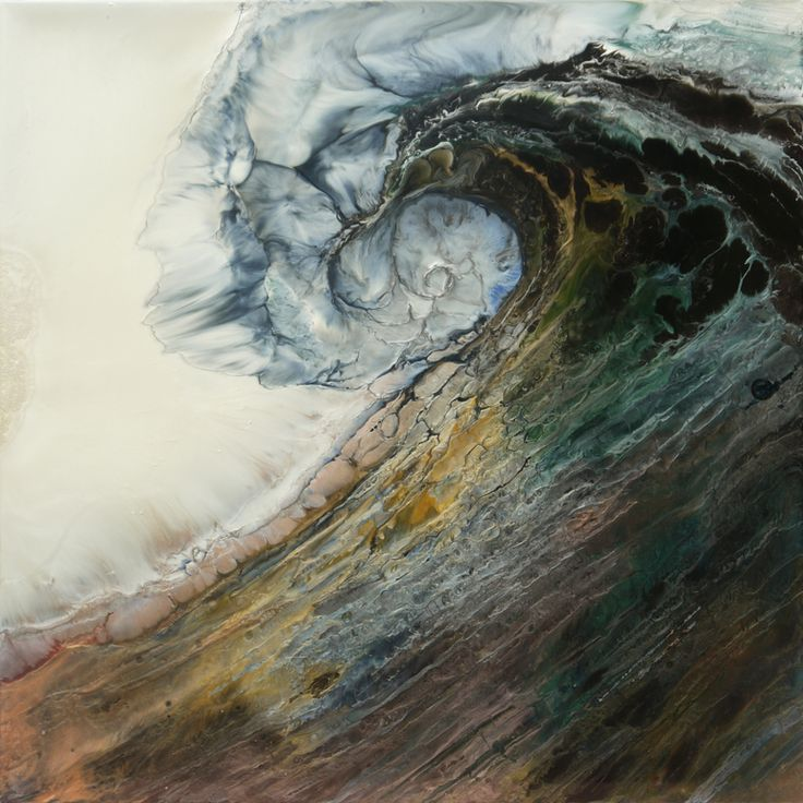 An amazing textural painting by Liz Melia