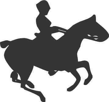 Силуэт лошади J