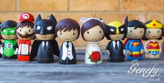 Cute Superhero Cake Toppers. I WILL marry Batman.